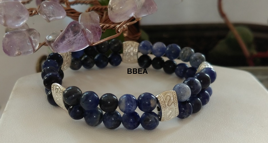 Bracelet double sodalite