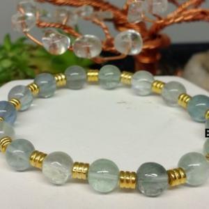 Bracelet fluorine verte