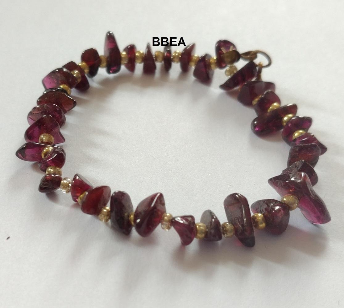 Bracelet grenat 2