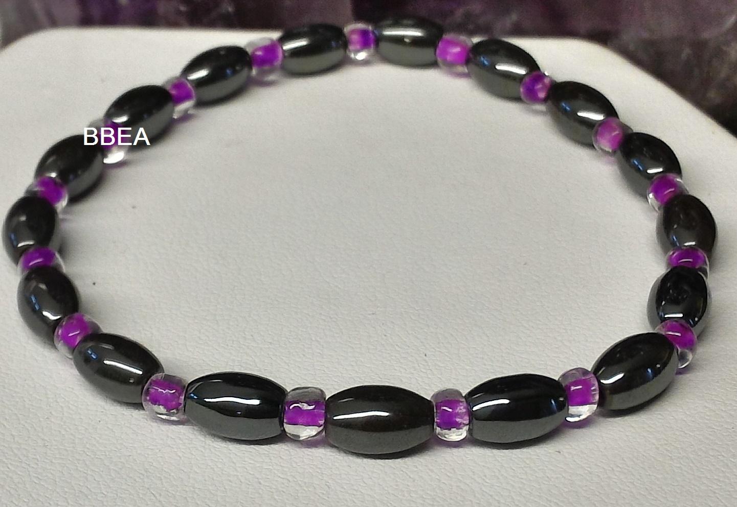 Bracelet hematite 9 1
