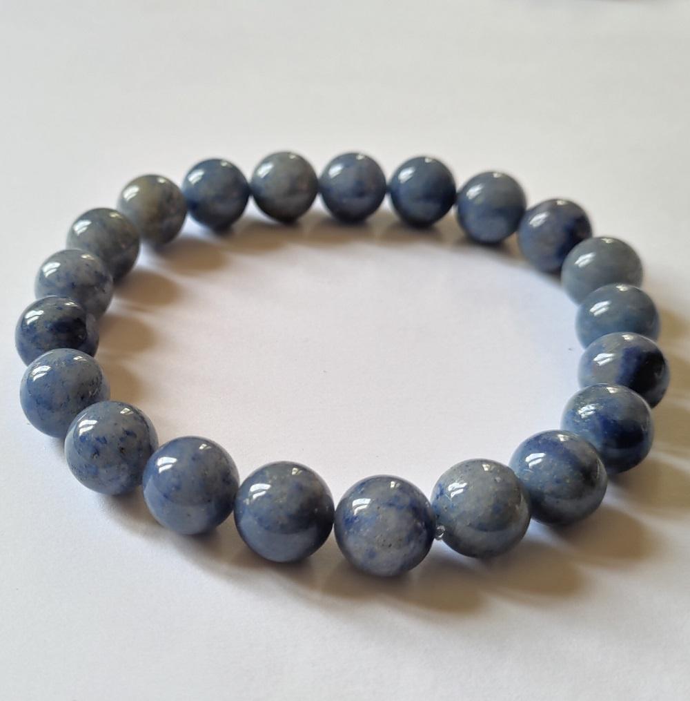 Bracelet homme aventurine bleue
