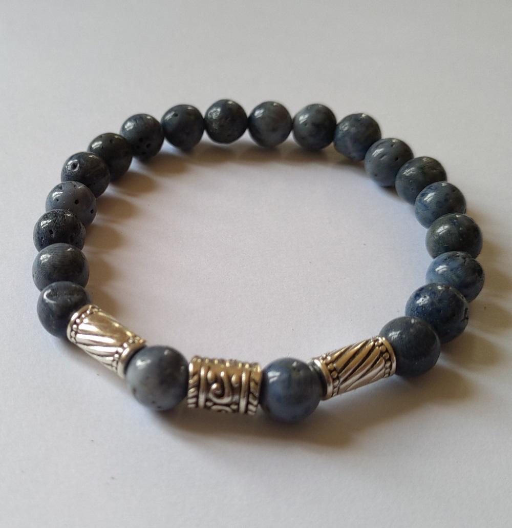 Bracelet homme corail bleu 1