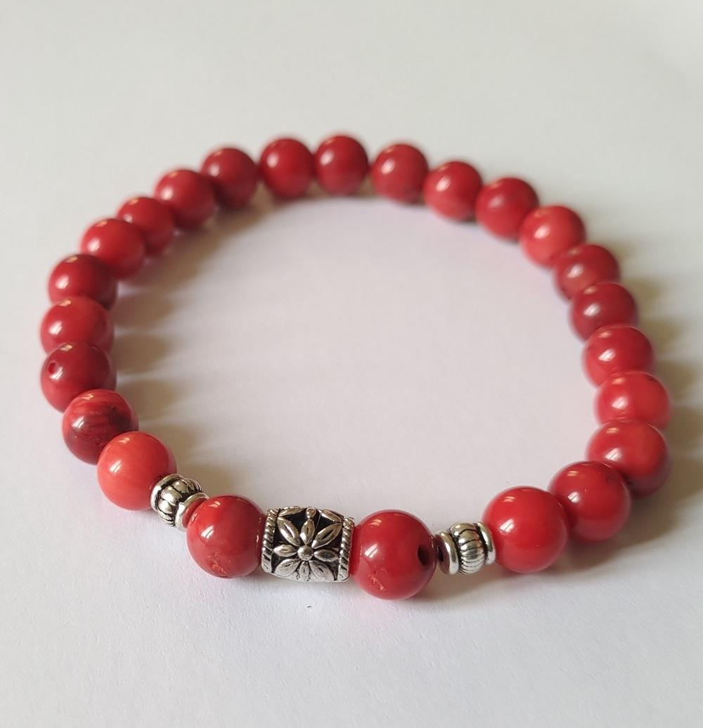 Bracelet homme corail