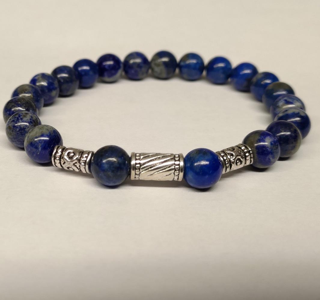 Bracelet homme lapis lazuli 2