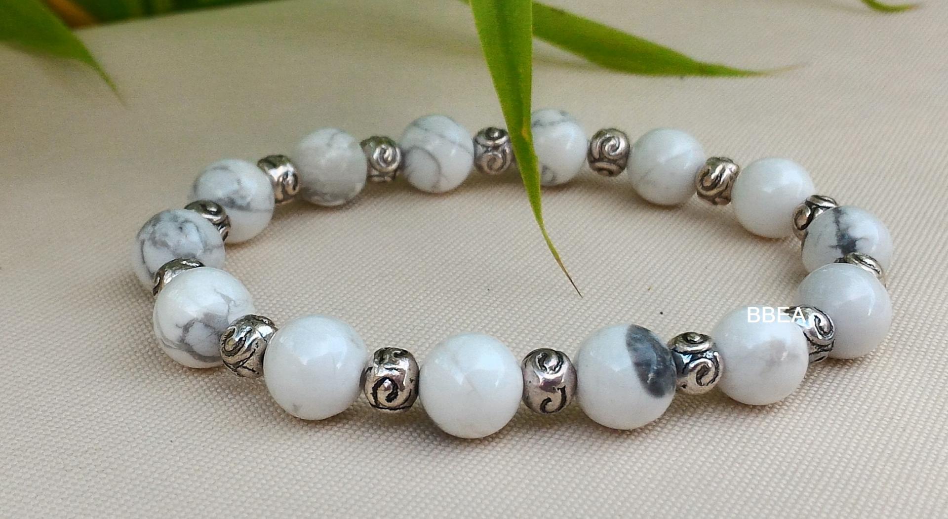 Bracelet howlite 1 1