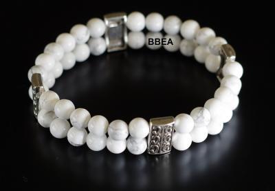 Bracelet howlite 2 5