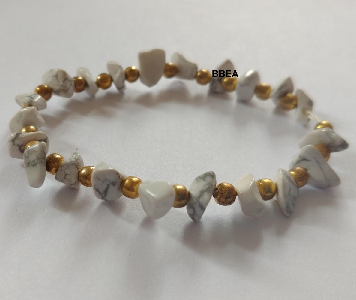 Bracelet howlite 2 6