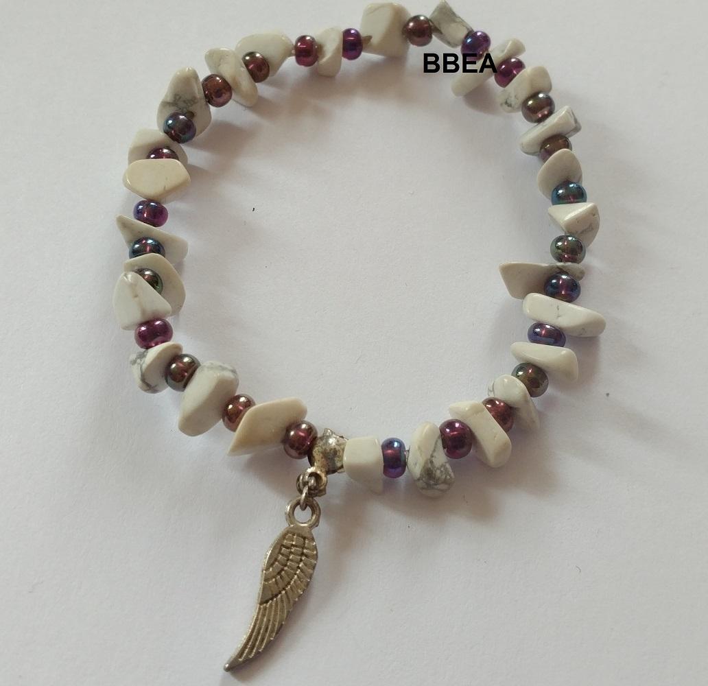 Bracelet howlite 3 3