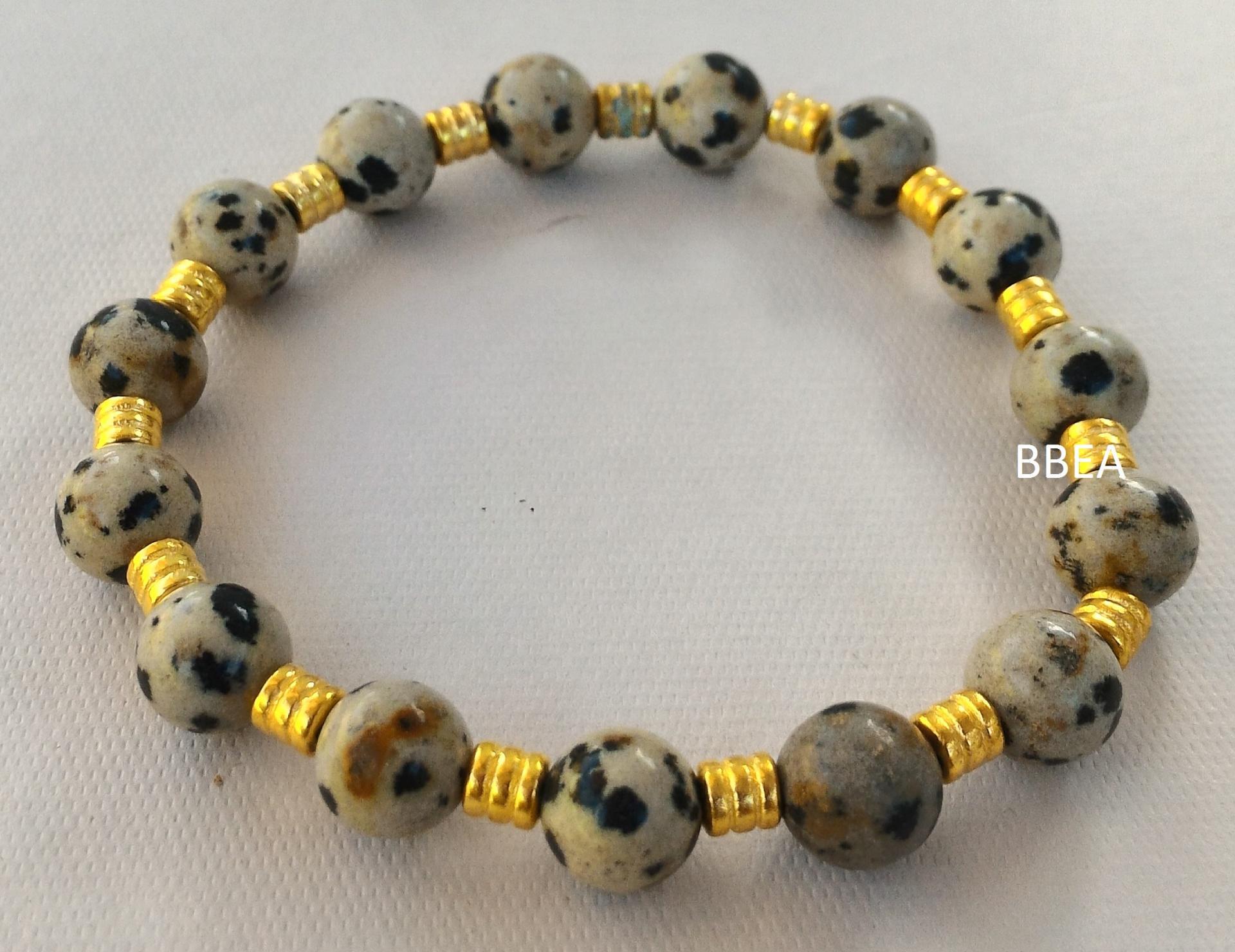 Bracelet jaspe dalmatien 1