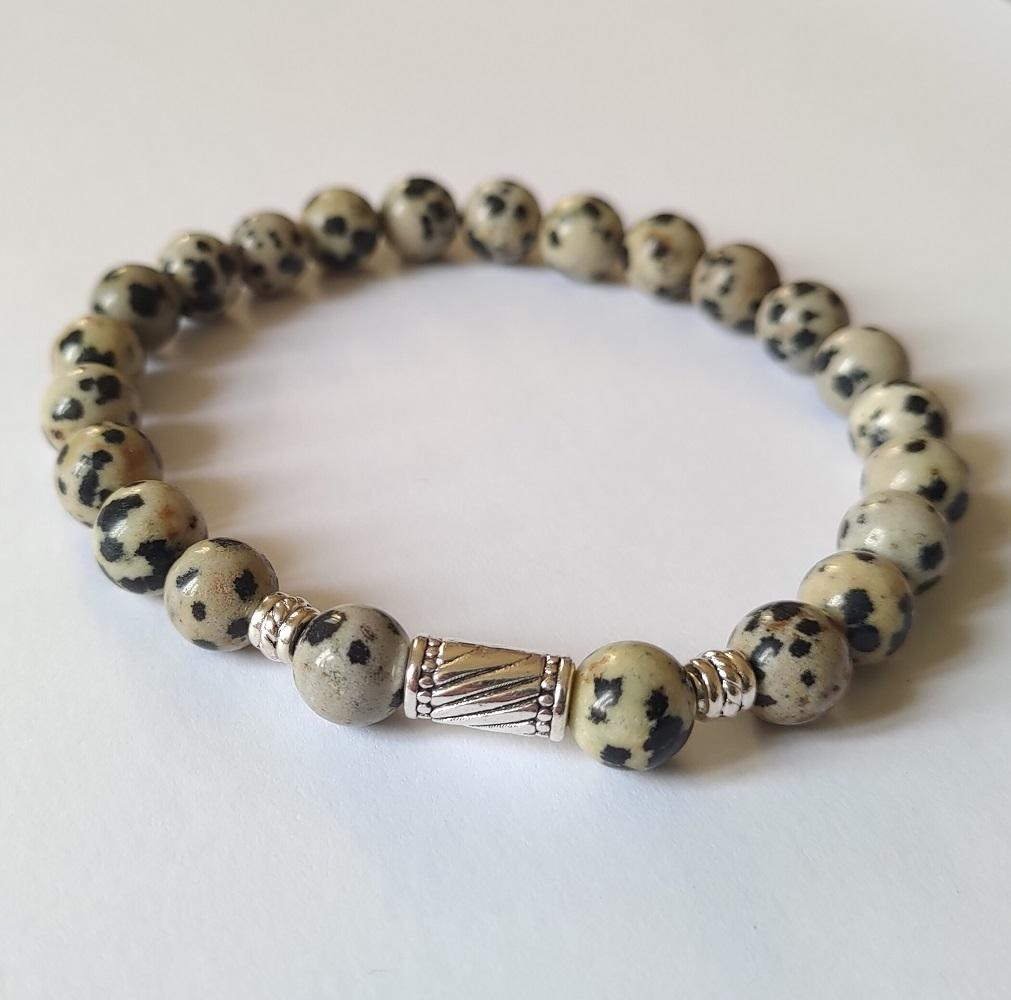 Bracelet jaspe dalmatien 2 1