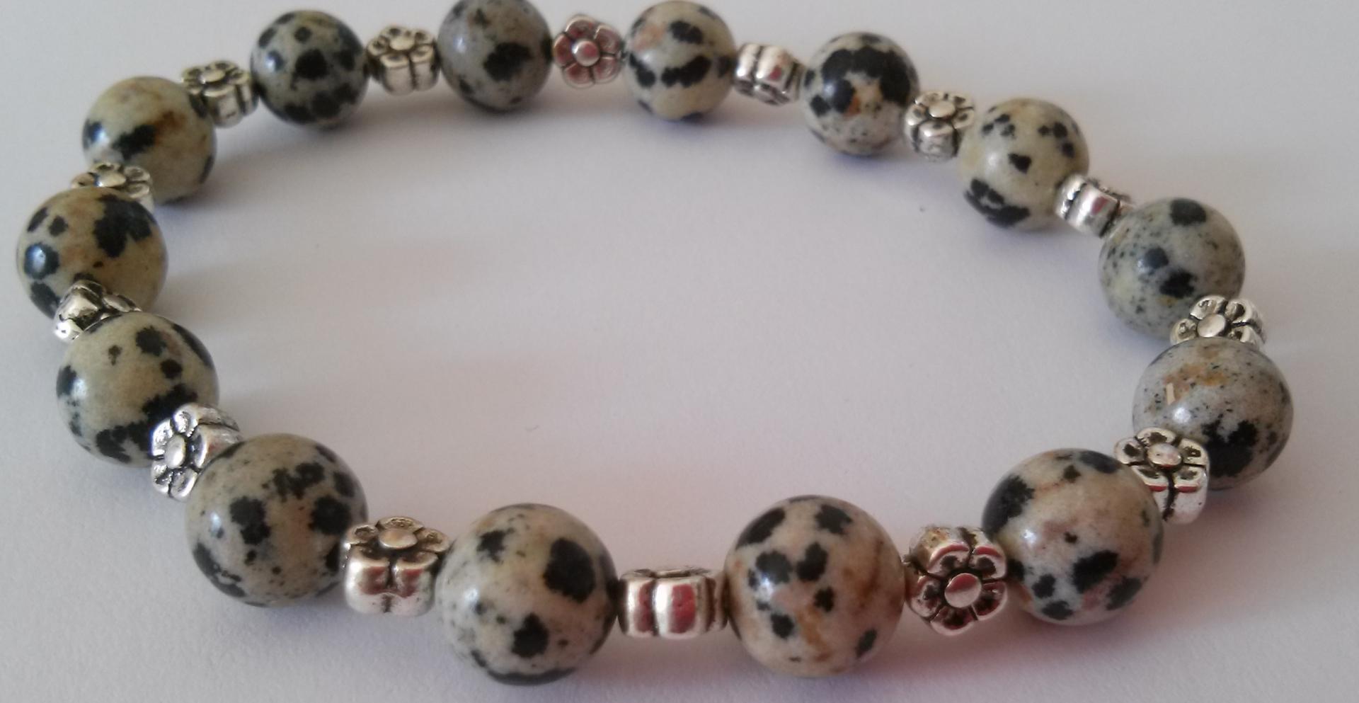 Bracelet jaspe dalmatien 2