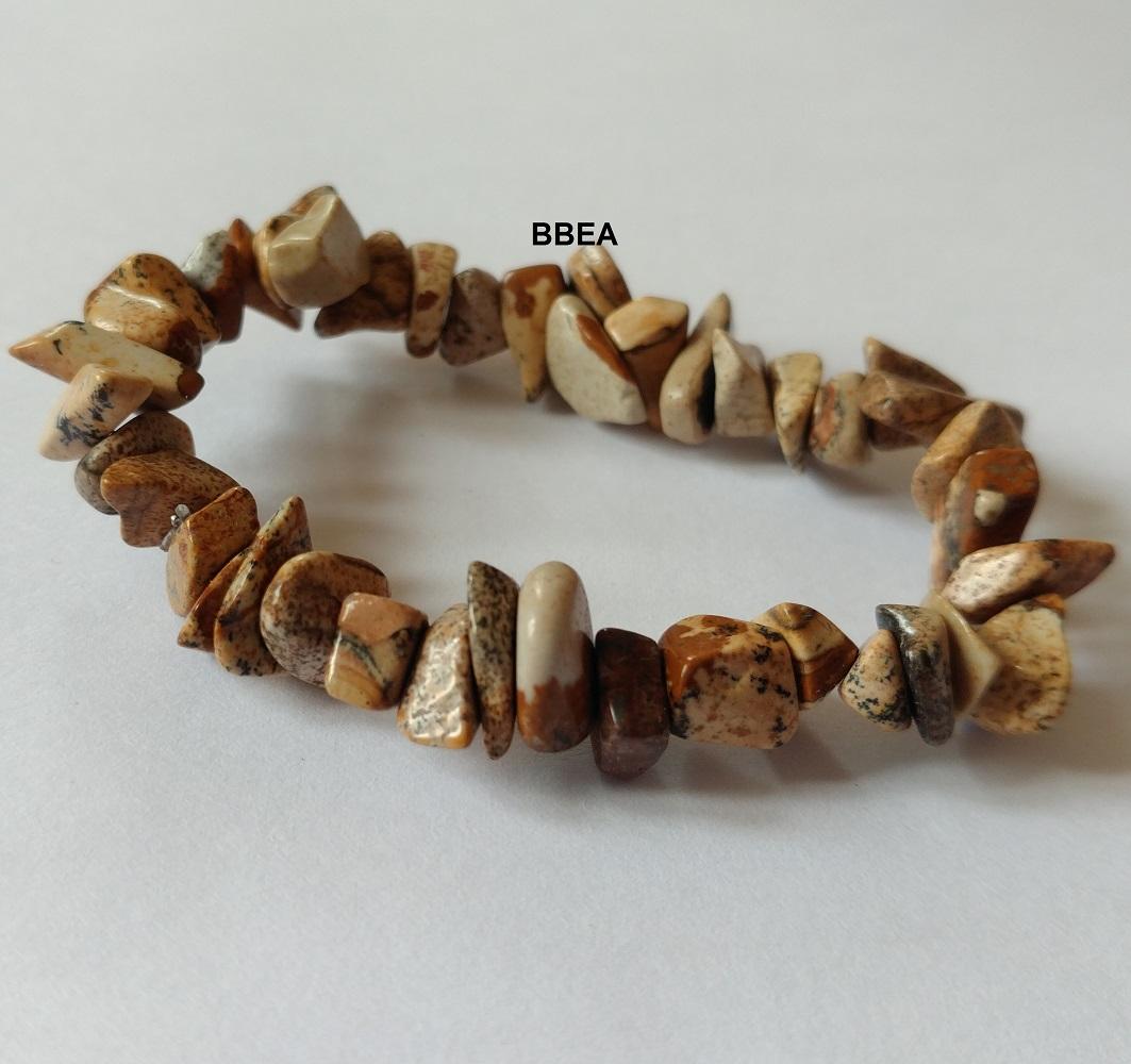 Bracelet jaspe paysage chips