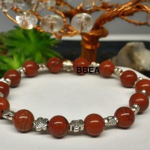 Bracelet jaspe rouge 1