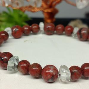 Bracelet jaspe rouge 2