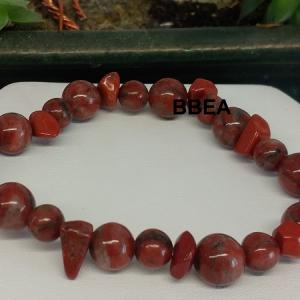 Bracelet jaspe rouge 4