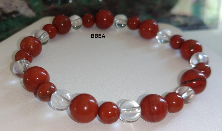 Bracelet jaspe rouge 5