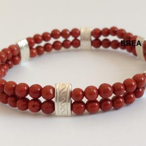 Bracelet jaspe rouge 6