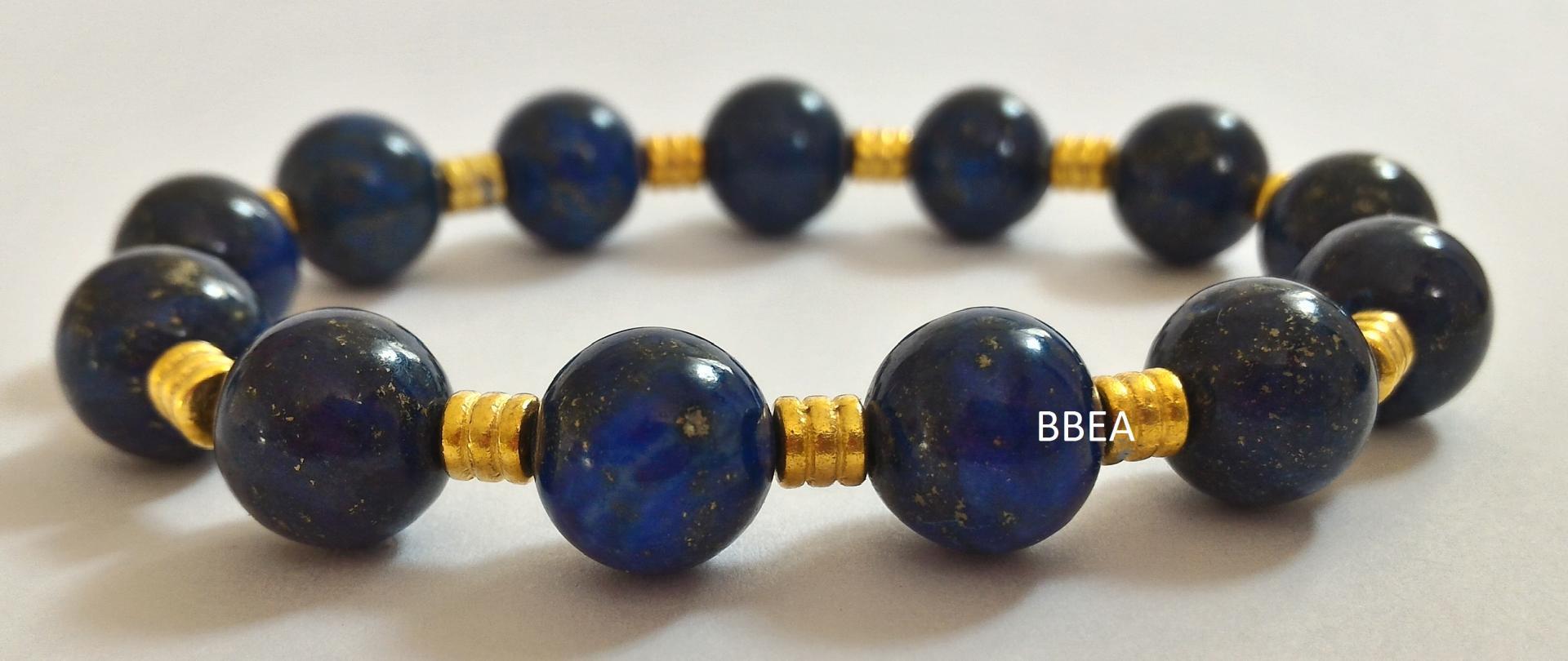 Bracelet lapis lazuli 1