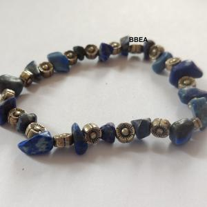 Bracelet lapis lazuli 3 4