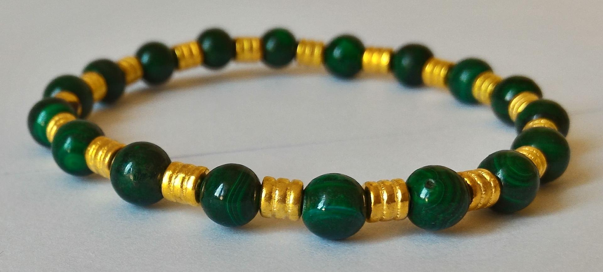 Bracelet malachite 4