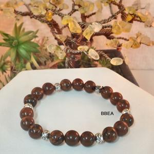 Bracelet obsidienne acajou 1
