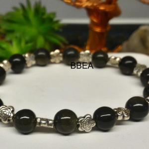 Bracelet obsidienne doree 2 1