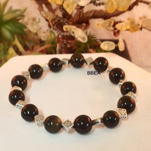 Bracelet obsidienne doree 2 2