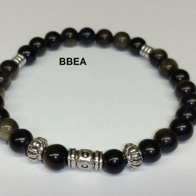 Bracelet obsidienne doree 2