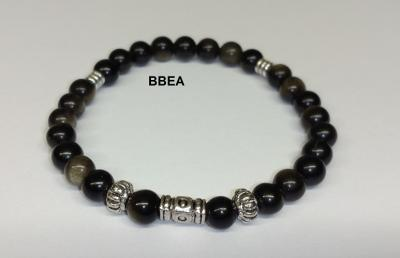 Bracelet obsidienne doree 2