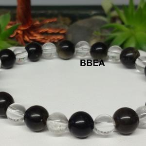 Bracelet obsidienne doree 3