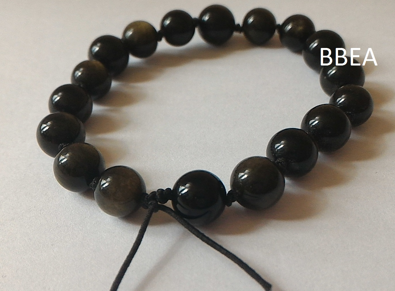 Bracelet obsidienne doree