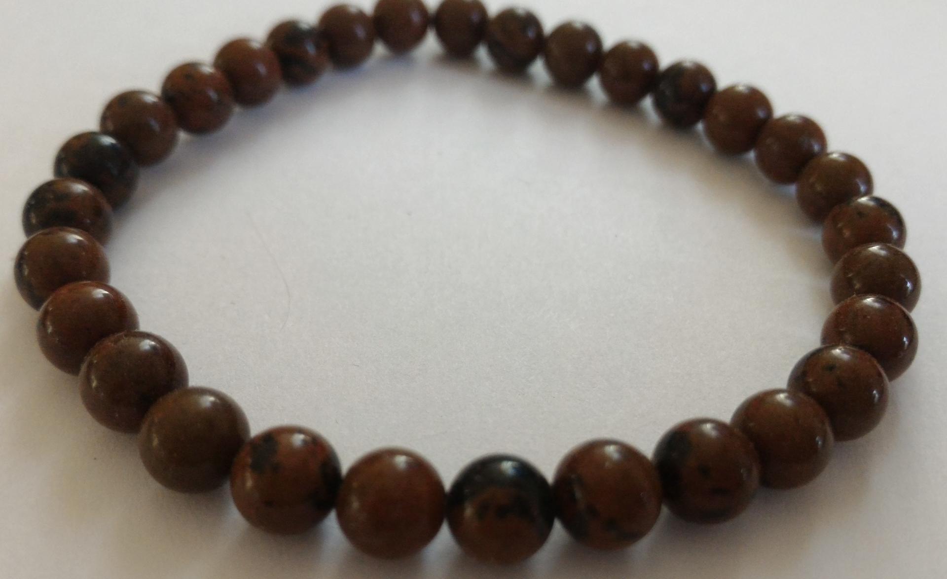 Bracelet obsidienne marron 1