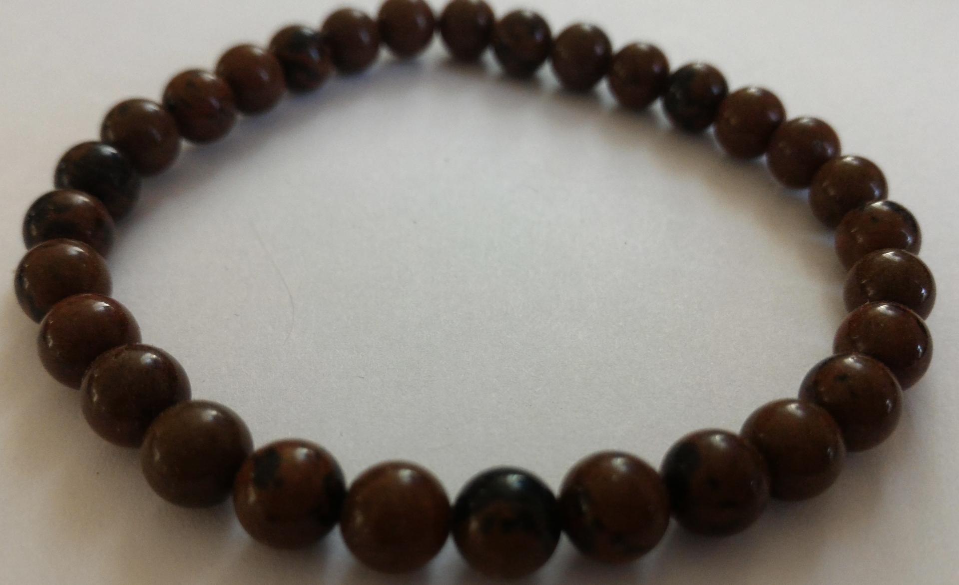 Bracelet obsidienne marron 2