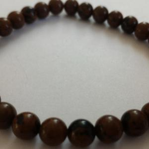 Bracelet obsidienne marron 2