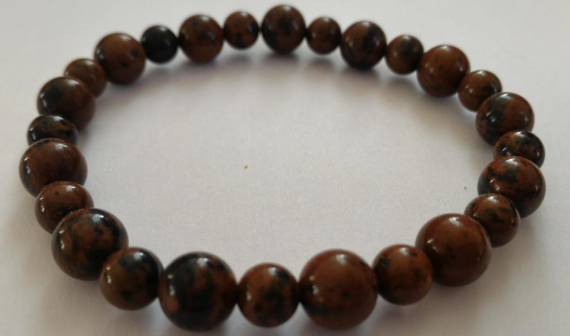 Bracelet obsidienne marron