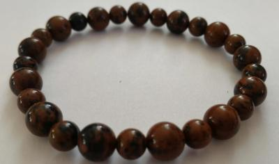 Bracelet obsidienne marron