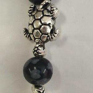 Bracelet obsidienne neige 2 1