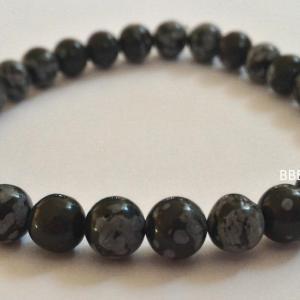 Bracelet obsidienne neige 2