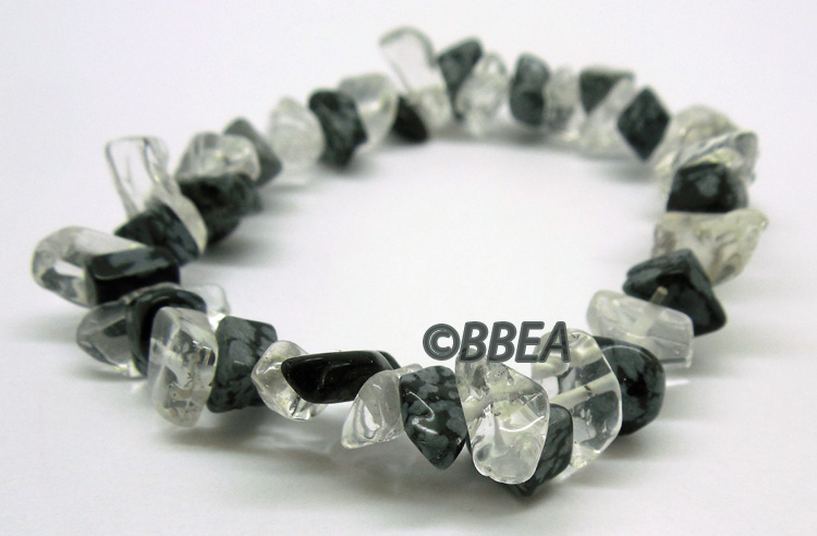 Bracelet obsidienne neige 2866