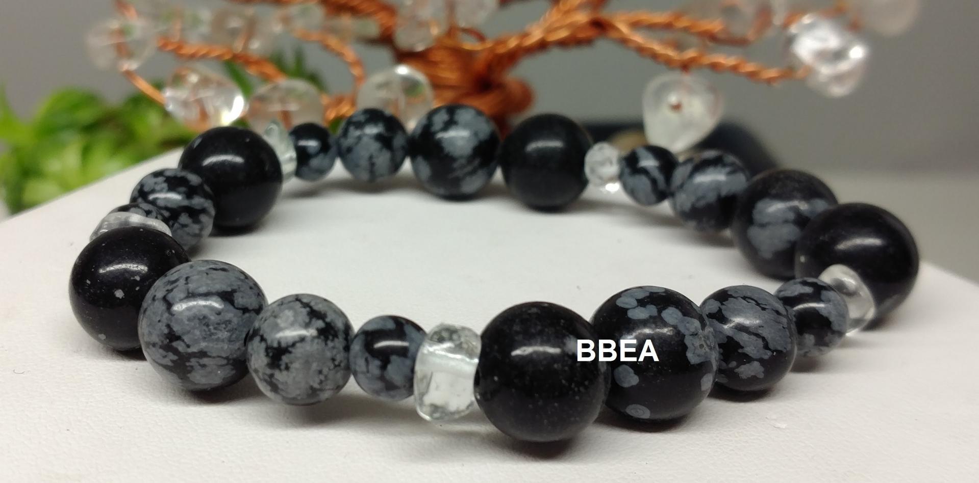 Bracelet obsidienne neige 3