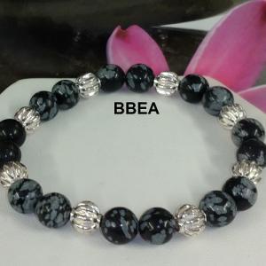Bracelet obsidienne neige 4