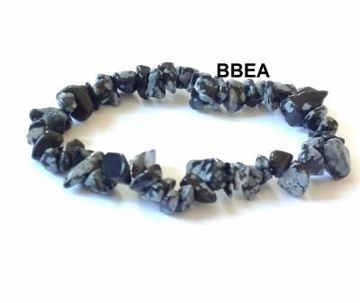 Bracelet obsidienne neige chips