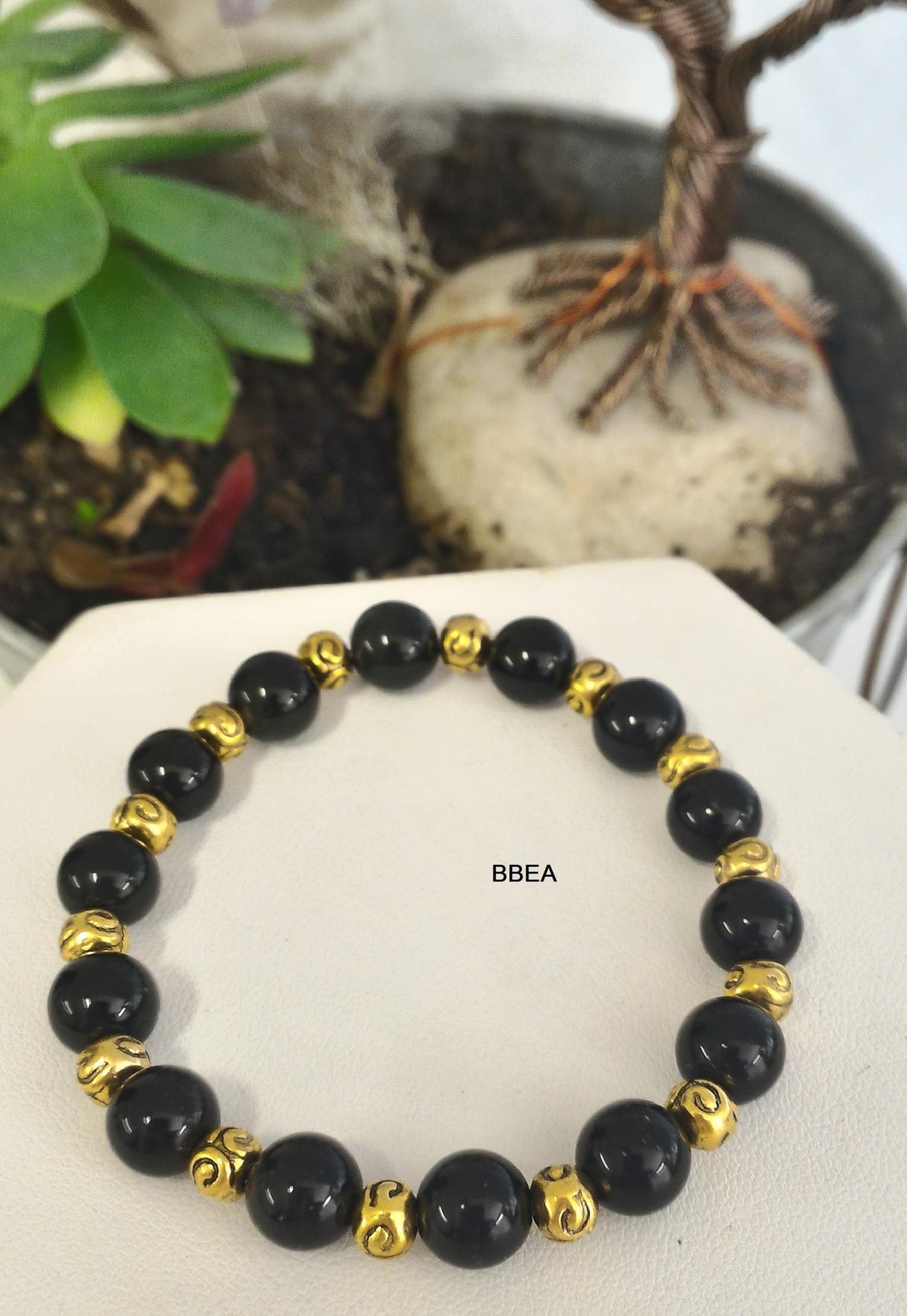 Bracelet obsidienne noire 1