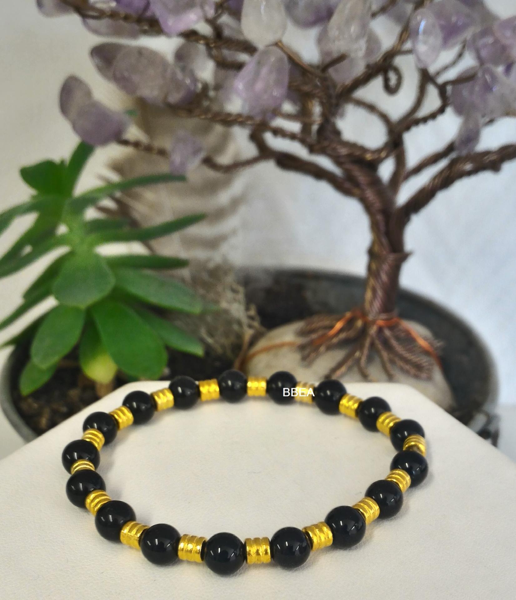 Bracelet obsidienne noire 2