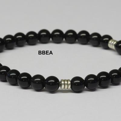 Bracelet obsidienne noire homme