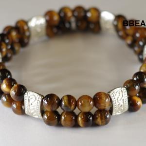 Bracelet oeil tigre double 1