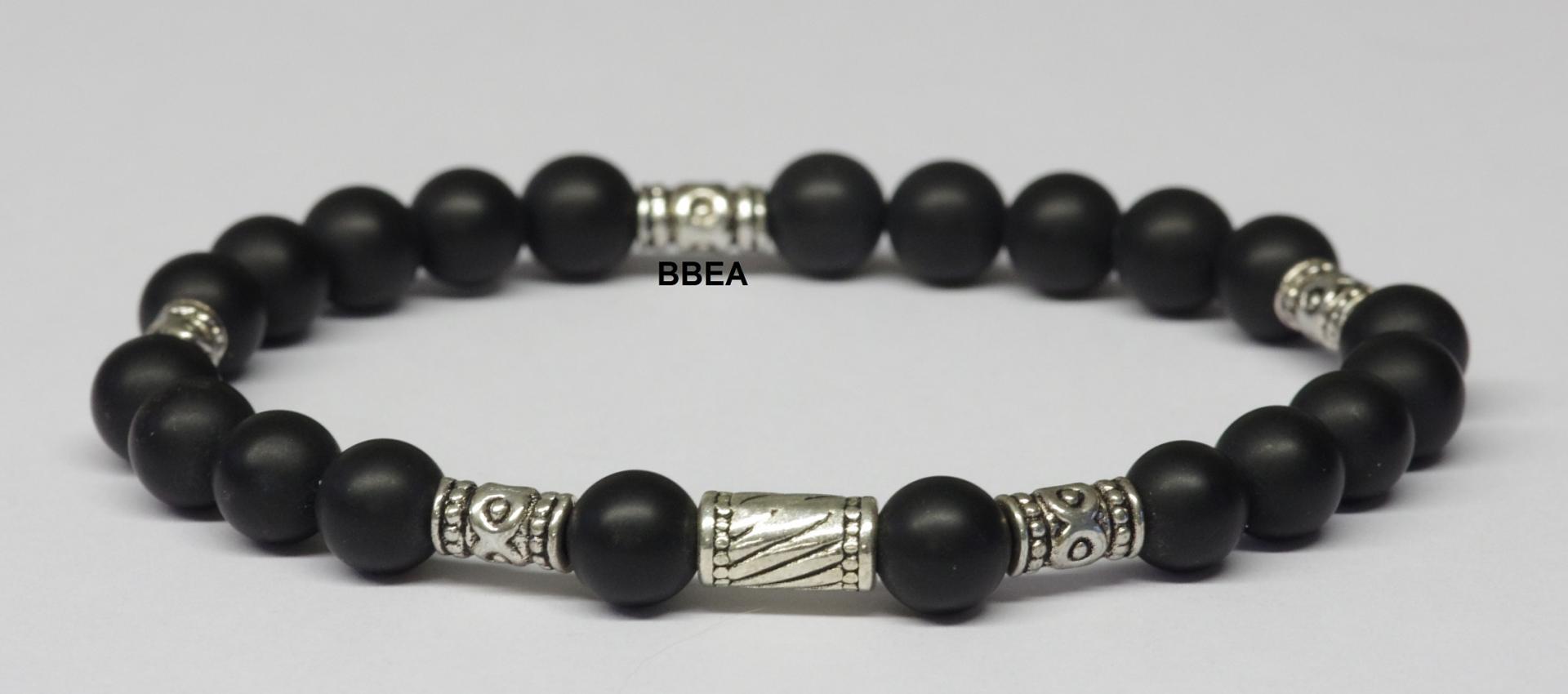 Bracelet onyx noire 1