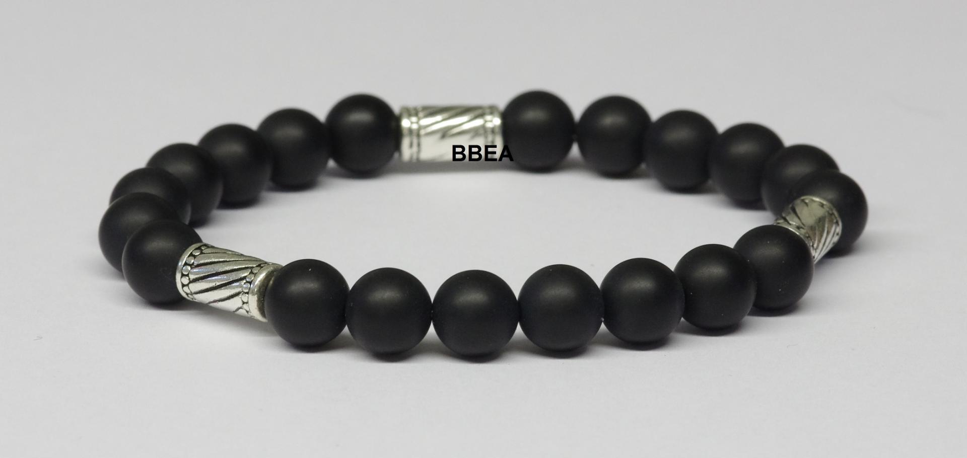 Bracelet onyx noire