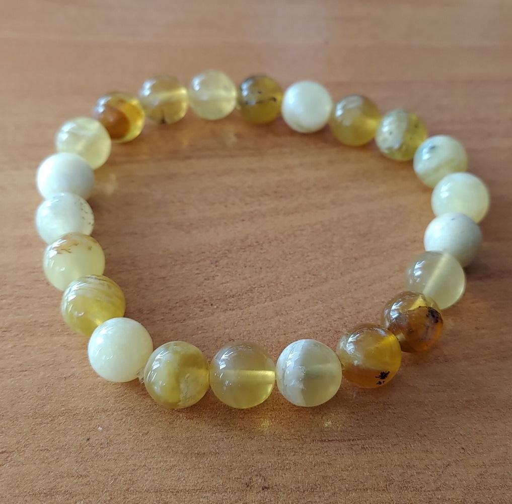 Bracelet opale jaune 1