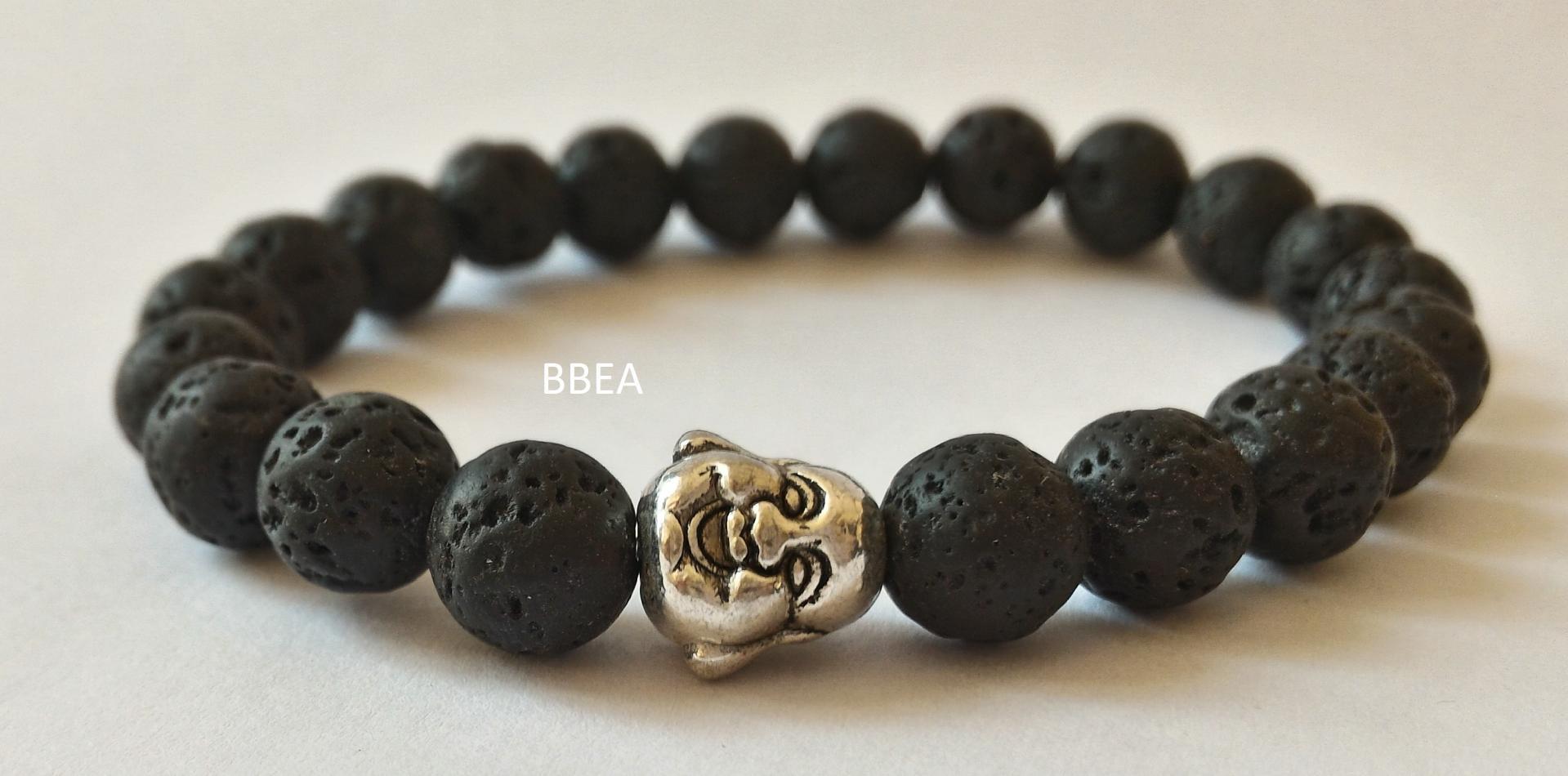 bracelet perle de lave
